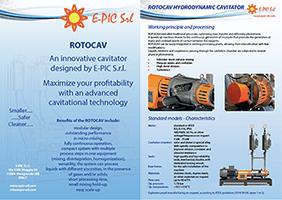 Brochure ROTOCAV Hydrodynamic cavitator