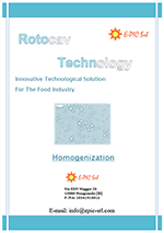 ROTOCAV brochure for homogenization of products