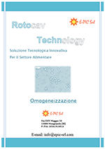 Brochure omogeneizzazione - ROTOCAV - Cavitatore idrodinamico