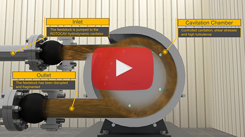 Video animation of the ROTOCAV hydrodynamic cavitator for biomass pretreatment for the production of biogas