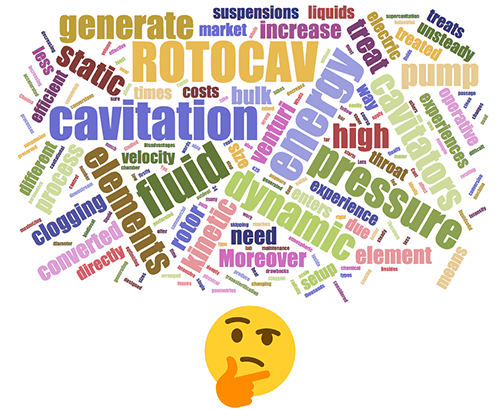 ROTOCAV compared to other commercial hydrodynamic cavitators