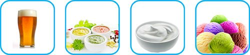 Examples of food products treated with the ROTOCAV hydrodynamic cavitator
